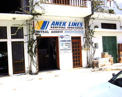 ANEK Lines central office, Boat Tickets, Kastelli, Kissamos, Nomos Chanion, Crete.